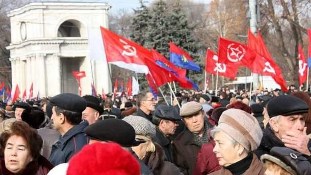 10 тысяч коммунистов Молдовы вышли на митинг