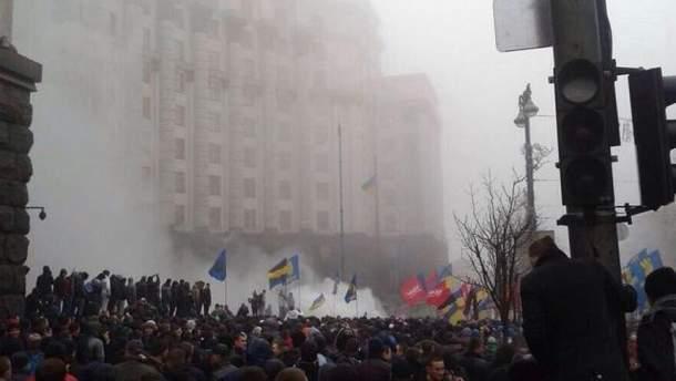 Митинг возле Кабмина