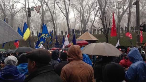 Мітингувальники Євромайдану
