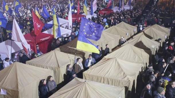 Евромайдан в Киеве. Палаточный городок