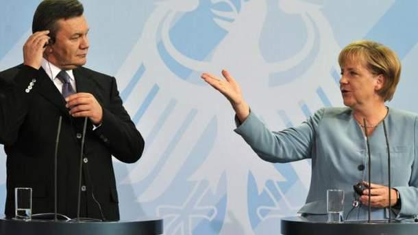 Виктор Янукович и Ангела Меркель