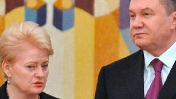 Даля Грібаускайте та Віктор Янукович