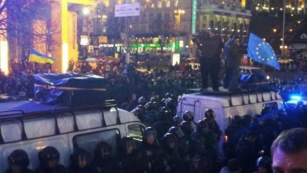"""""""Беркут"""" заблокував проїзд двох автобусів"""