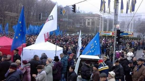 Мітинг на Михайлівській площі