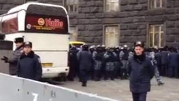 Милиция возле Кабмина