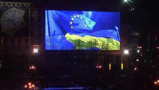 Экран на Майдане Незалежности