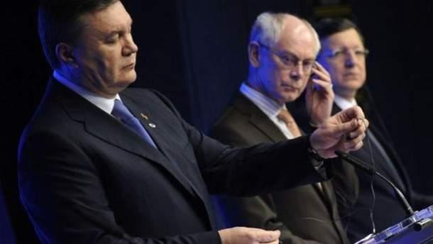 Янукович с лидерами ЕС