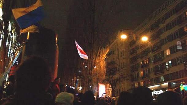 Пьедестал, на котором стоял памятник Ленину