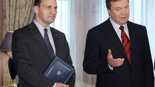 Сикорский и Янукович