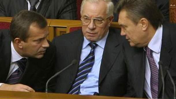 Андрій Клюєв, Микола Азаров та Віктор Янукович