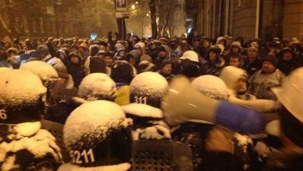 Мітингувальники проти міліції