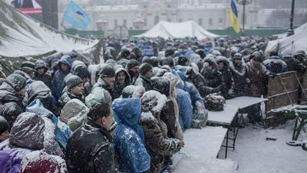 Снігопад на Майдані