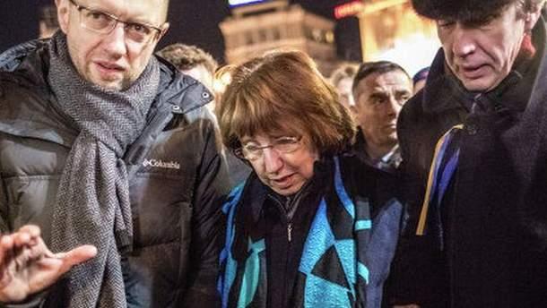Ештон на Майдані кілька годин тому