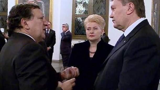 Виктор Янукович в Вильнюсе