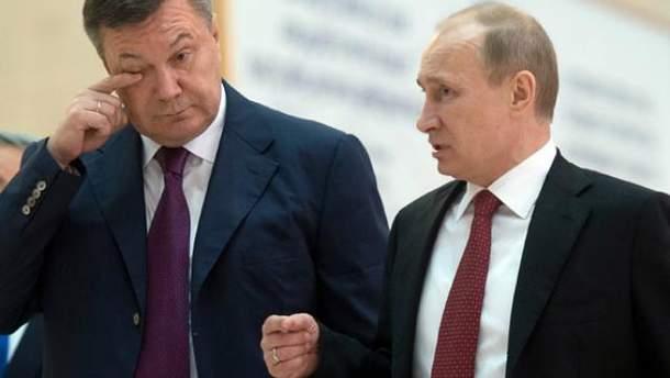 Виктор Янукович и Владимир Путин