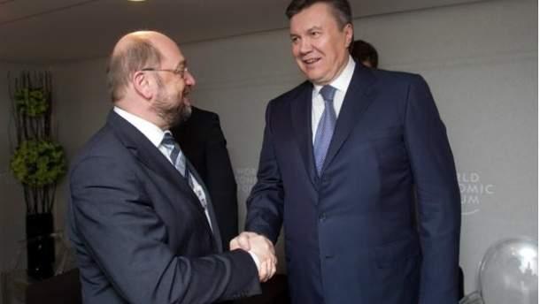 Виктор Янукович и Мартин Шульц