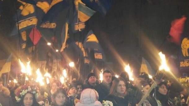 Марш на честь Степана Бандери у Києві