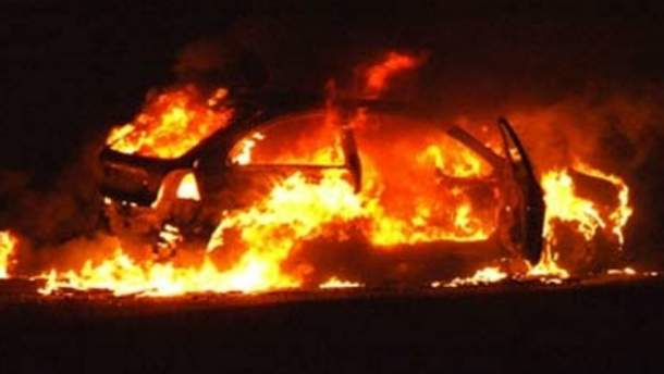 Сожгли машину
