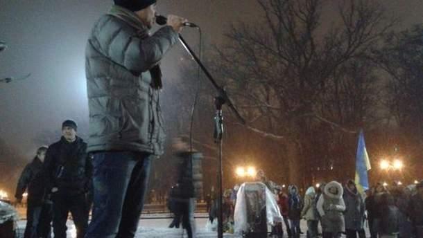 Харківському Євромайдану вимкнули світло