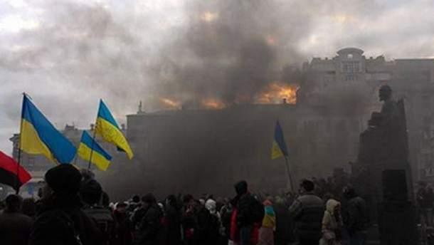 Петарды на Евромайдане