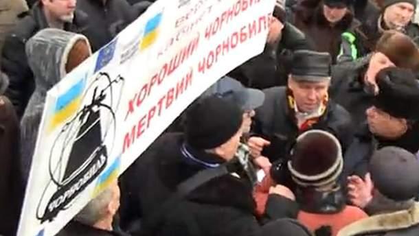 Сутичка солдатів ВВ і чорнобильців