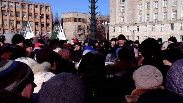 Протестующие в Черкассах