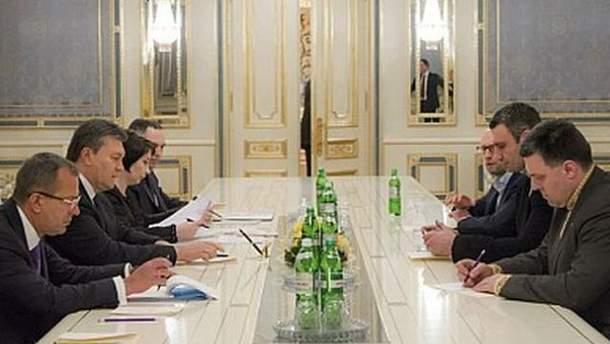 Переговоры власти и оппозиции