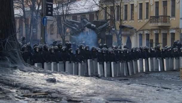 """""""Беркутівці"""" на вулиці Грушевського"""
