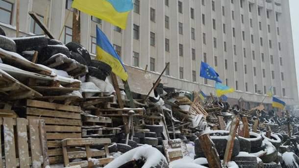 Барикади в Івано-Франківську