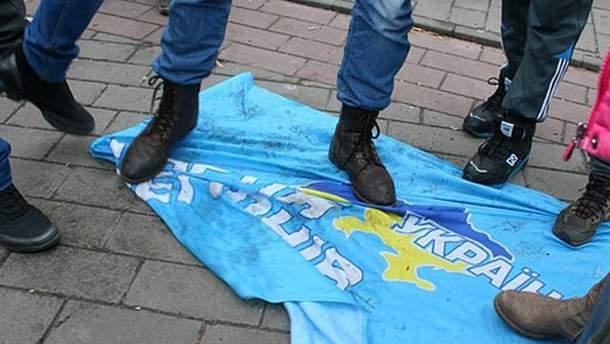 Флаг Партии регионов