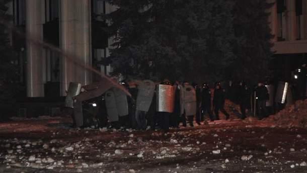 Зачистка Майдану в Дніпропетровську