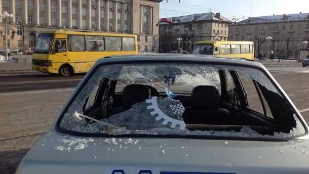 Разбитое авто в Черкассах