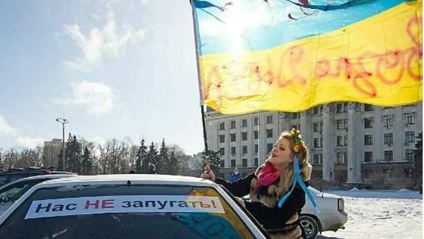 Акция Автомайдана в Одессе