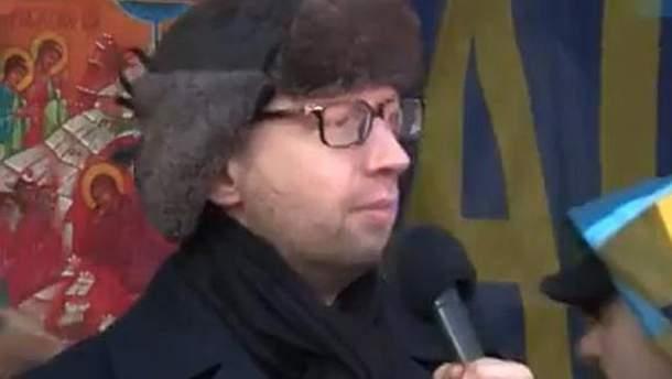 Яценюк на сцені Євромайдану