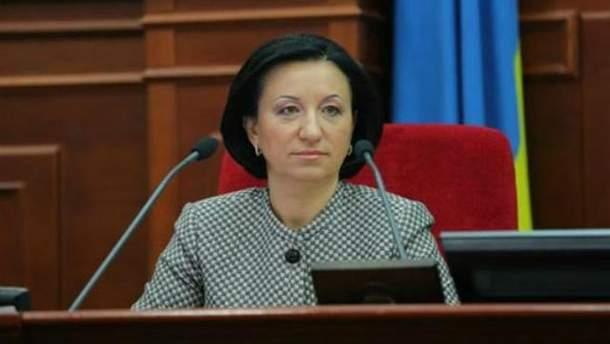 Секретарь Киевского городского совета Галина Герега
