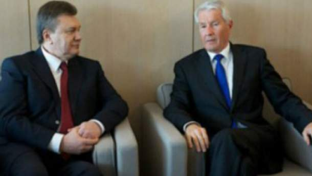 Виктор Янукович и Торбйон Ягланд