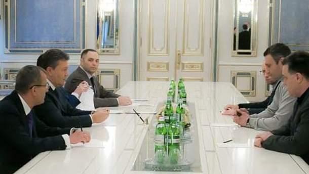 Переговоры оппозиции с президентом
