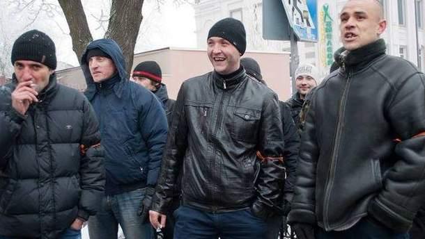 Участники провластного митинга