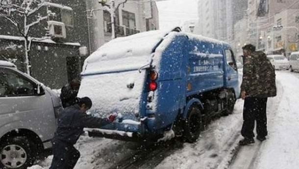 Снегопад в Токио