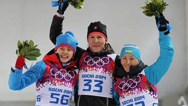 Вита Семеренко во время награждения в Сочи