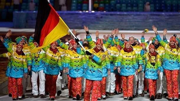 Немецкая сборная в Сочи