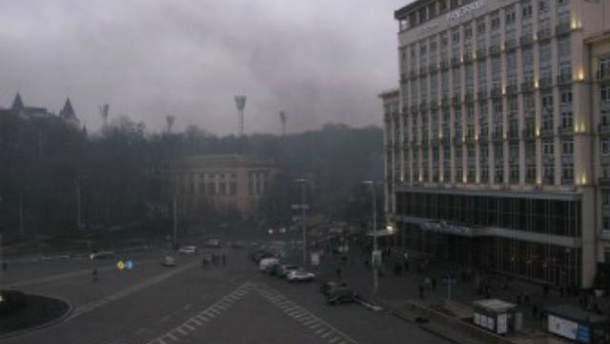 Дым на Грушевского