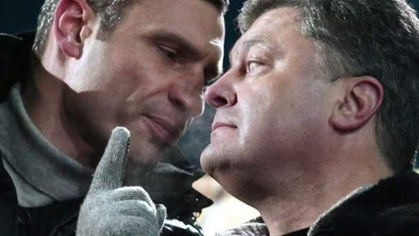 Виталий Кличко и Петр Порошенко