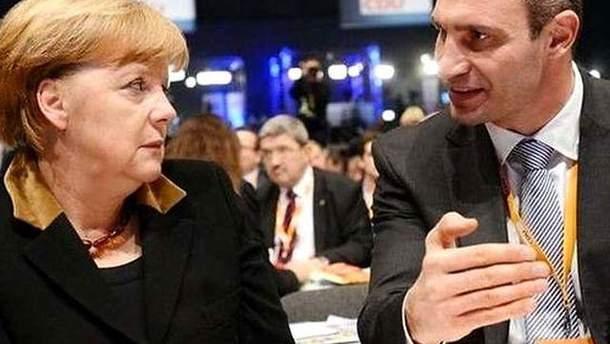 Ангела Меркель и Виталий Кличко