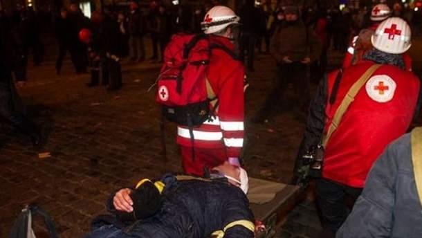 Раненый активист