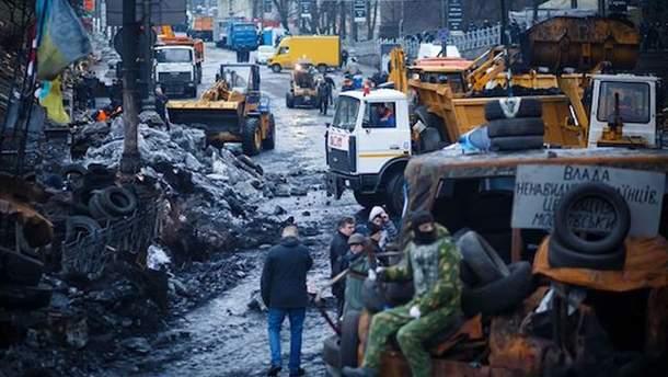 Активисты на Грушевского