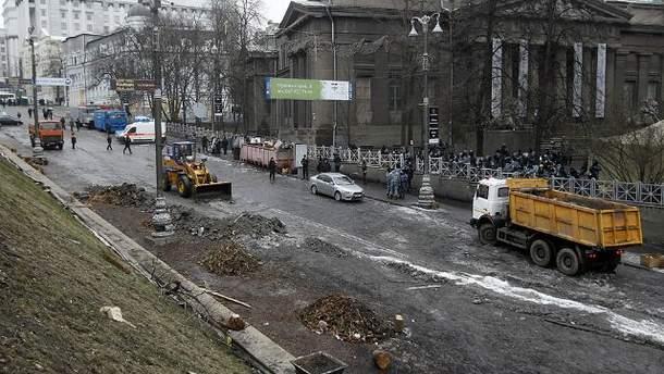 Прибирали Грушевського