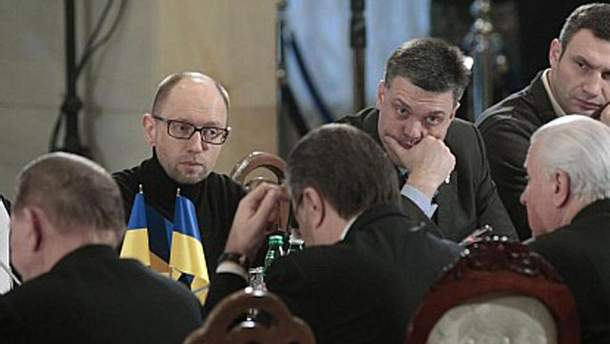 Оппозиция на переговорах у президента