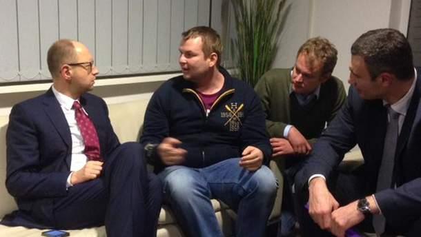 Яценюк і Кличко на зустрічі з Булатовим