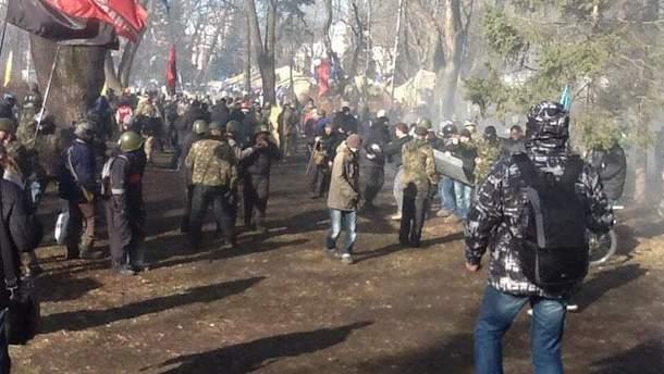 Столкновения в Мариинском парке
